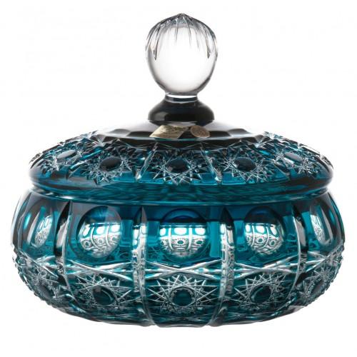 Confettiera Petra, cristallo, colore azzurro, altezza 165 mm