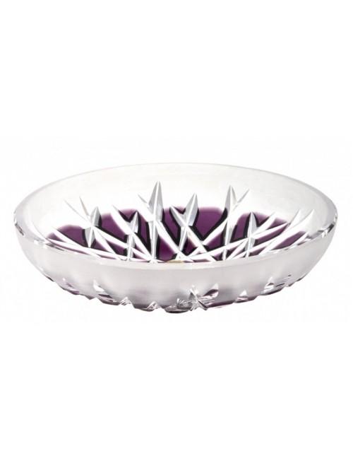 Piatto Hoarfrost, cristallo, colore viola, diametro 145 mm