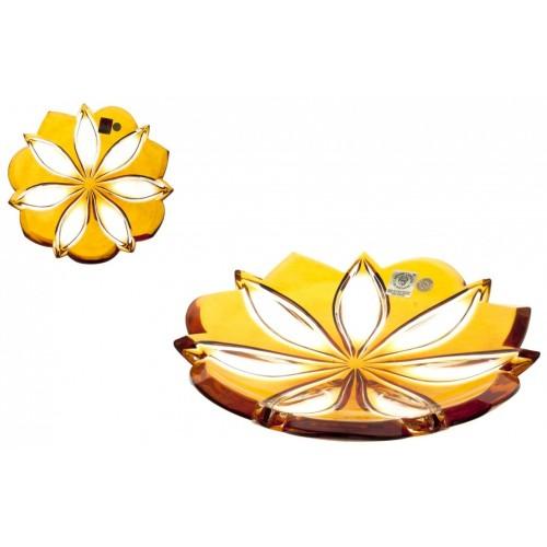 Piatto Linda, cristallo, colore ambra, diametro 180 mm