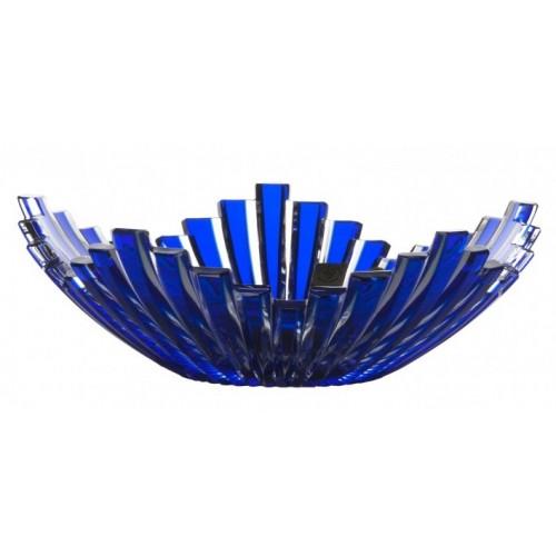 Insalatiera Mikado, cristallo, colore blu, diametro 230 mm