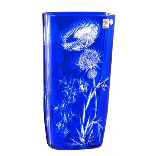 Vaso Thistle, cristallo, colore blu, altezza 255 mm