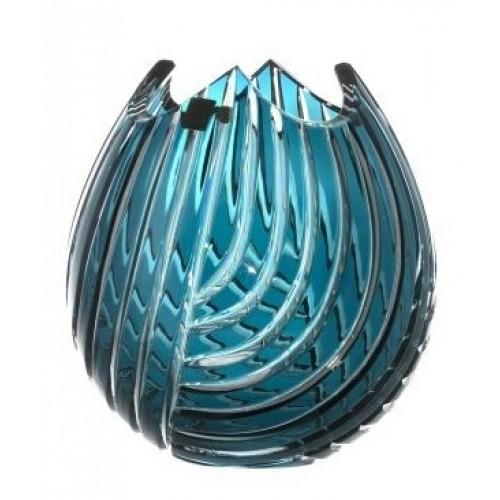 Vaso Linum, cristallo, colore azzurro, altezza 210 mm