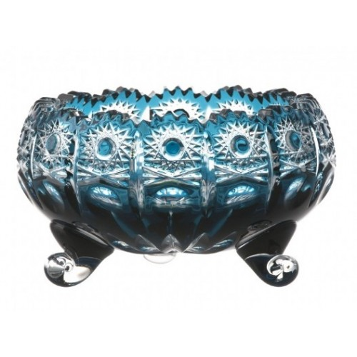 Ciotola Petra, cristallo, colore azzurro, diametro 140 mm