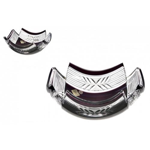 Insalatiera Laurel, cristallo, colore viola, diametro 230 mm