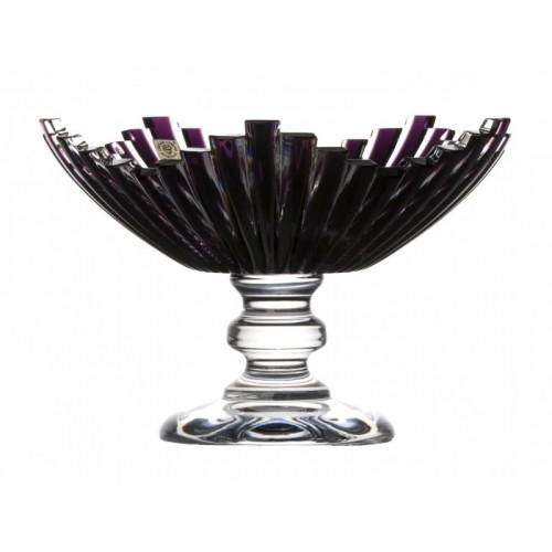 Portafrutta Mikado, cristallo, colore viola, diametro 230 mm