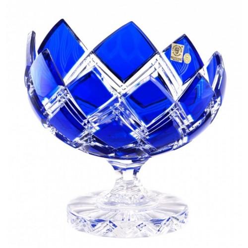Portafrutta Harlequin, cristallo, colore blu, diametro 200 mm