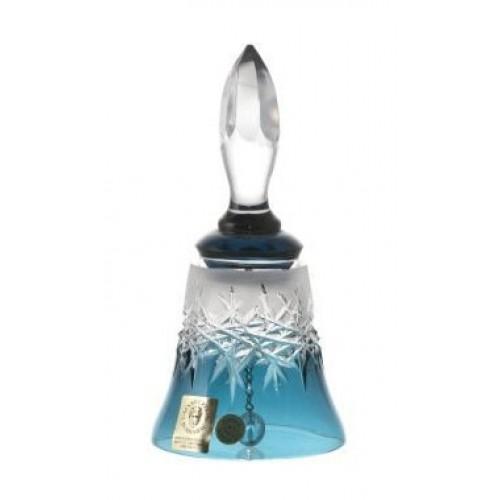 Campanella Hoarfrost, cristallo, colore azzurro, altezza 126 mm