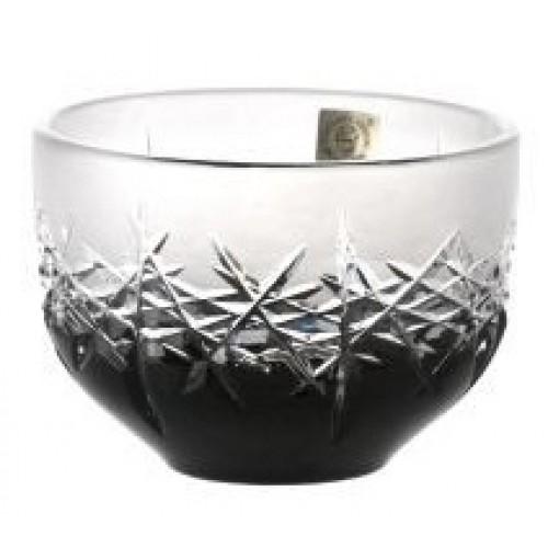 Ciotola Hoarfrost, cristallo, colore nero, diametro 110 mm
