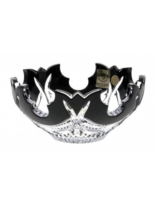 Ciotola Diadem, cristallo, colore nero, diametro 100 mm