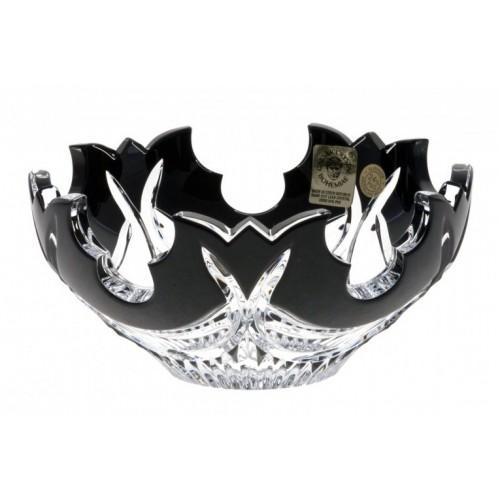 Ciotola Diadem, cristallo, colore nero, diametro 130 mm