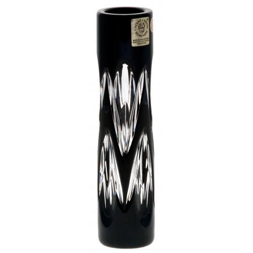 Vaso Snowdrop, cristallo, colore nero, altezza 155 mm