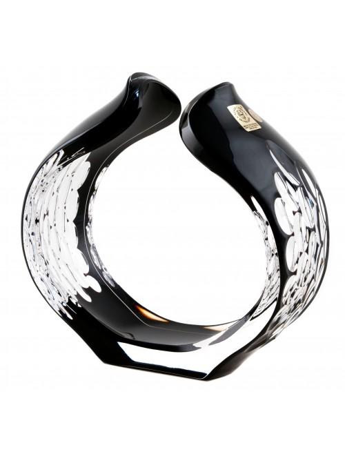 Portacandela Sirius, cristallo, colore nero, altezza 165 mm