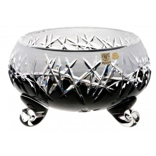Insalatiera Hoarfrost, cristallo, colore nero, diametro 155 mm