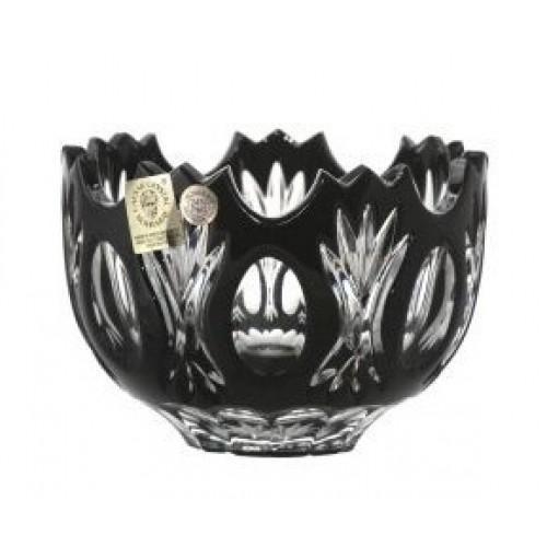 Ciotola Dandelion, cristallo, colore nero, diametro 110mm