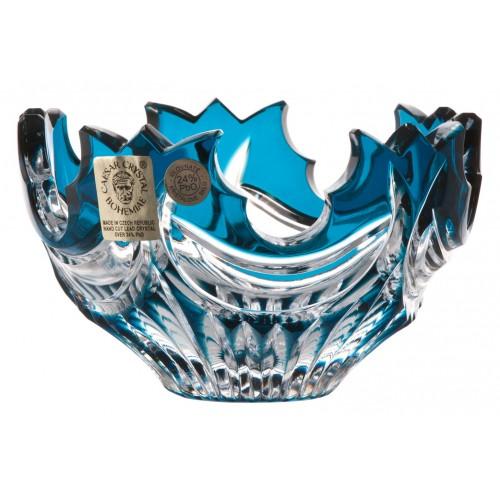 Ciotola Diadem, cristallo, colore azzurro, diametro 100 mm