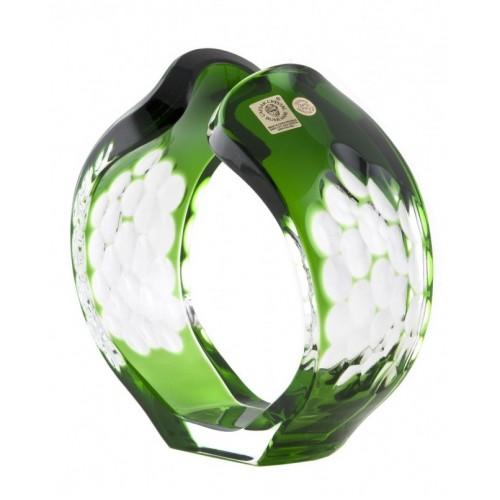 Portacandela Sirius, cristallo, colore verde, altezza 165 mm