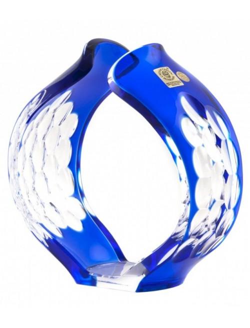 Portacenere Sirius, cristallo, colore blu, altezza 165 mm