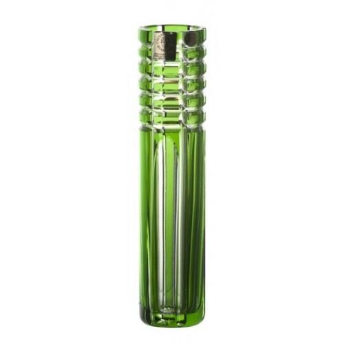 Vaso Nora, cristallo, colore verde, altezza 180 mm
