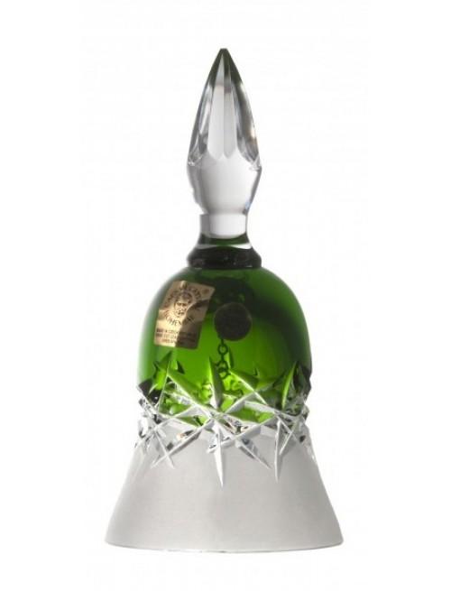 Campanella Hoarfrost, cristallo, colore verde, altezza 126 mm