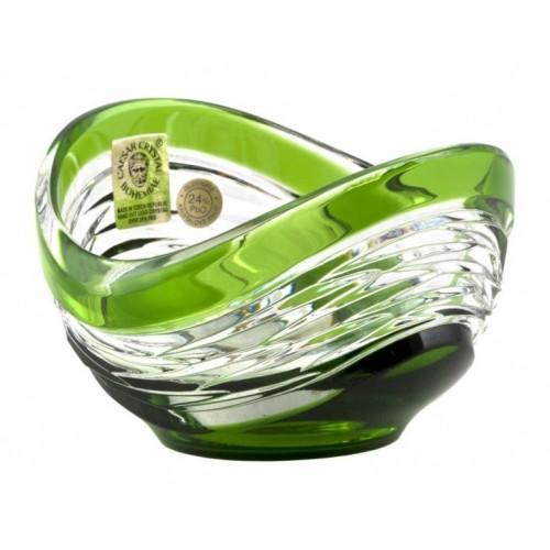 Ciotola Poem, cristallo, colore verde, diametro 95 mm
