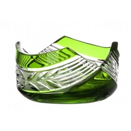 Ciotola Laurel, cristallo, colore verde, diametro 100 mm