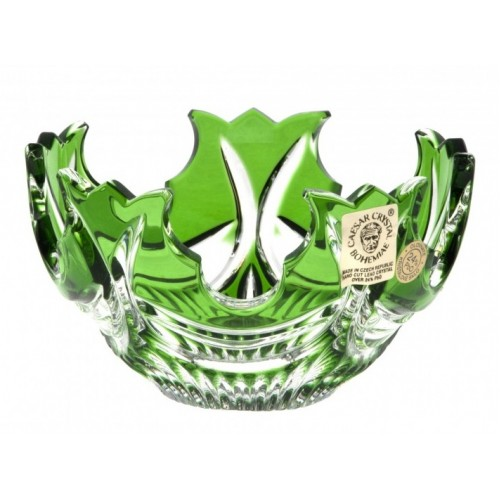 Ciotola Diadem, cristallo, colore verde, diametro 130 mm