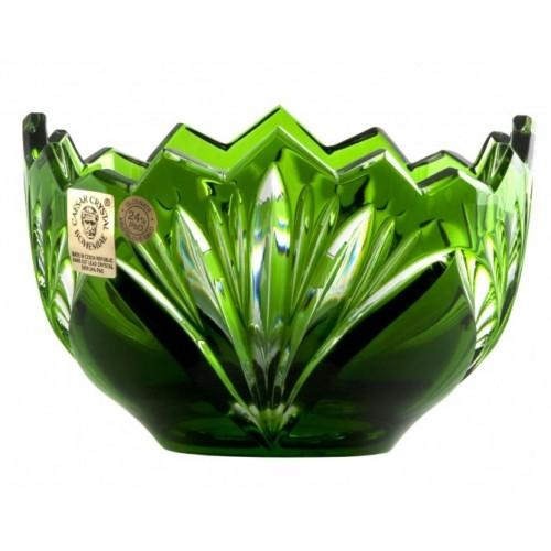 Ciotola Jonathan, cristallo, colore verde, diametro 110 mm