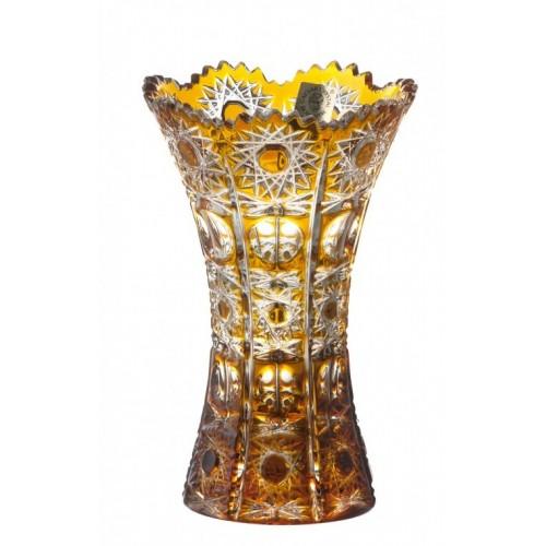 Vaso Petra, cristallo, colore ambra, altezza 155 mm