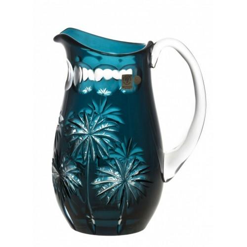 Brocca Palm, cristallo, colore azzurro, volume 1600 ml