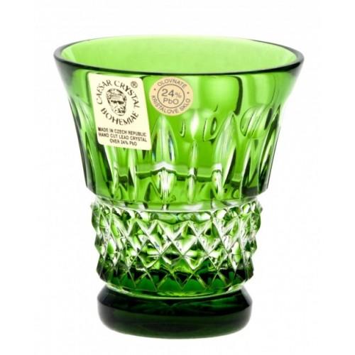 Bicchierino Tomy, cristallo, colore verde, volume 45 ml