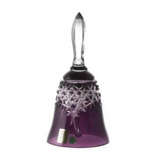 Campanella New Milenium, cristallo, colore viola, altezza 165 mm