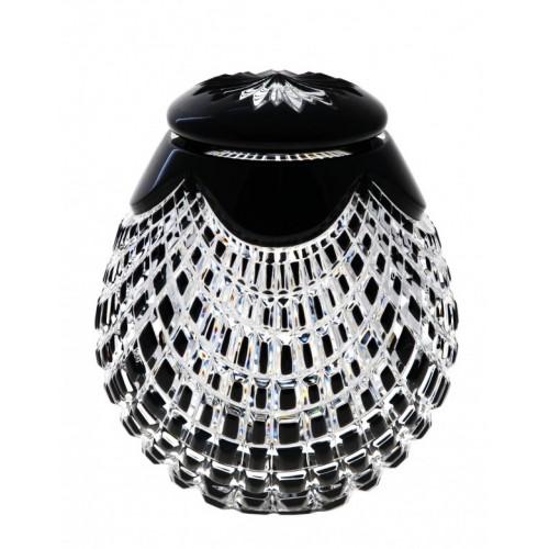 Urna Quadrus, cristallo, colore nero, altezza 145 mm