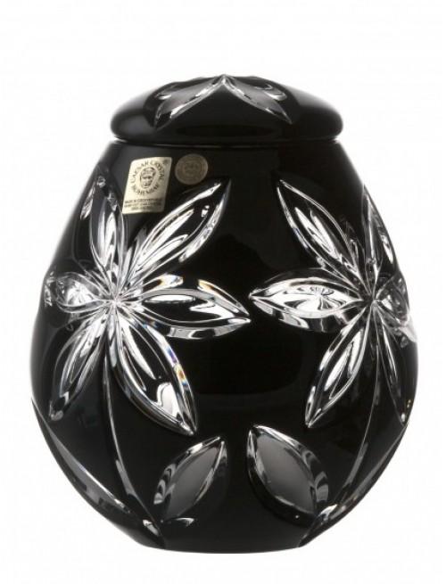 Urna Linda, cristallo, colore nero, altezza 145 mm