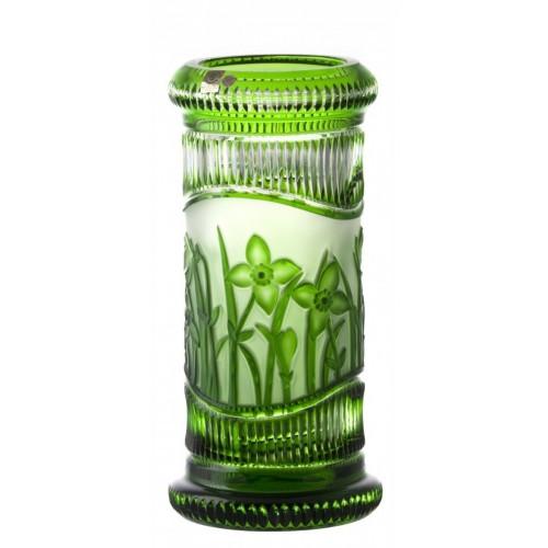 Vaso Fiori, cristallo, colore verde, altezza 300 mm