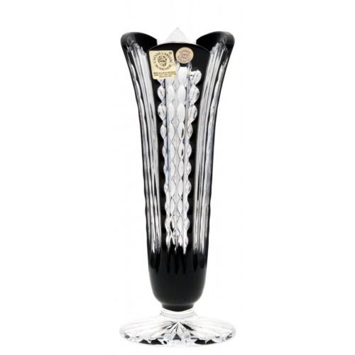 Vaso Akiko, cristallo, colore nero, altezza 175 mm
