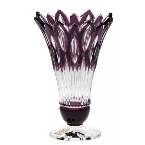 Vaso Flame, cristallo, colore viola, altezza 150 mm