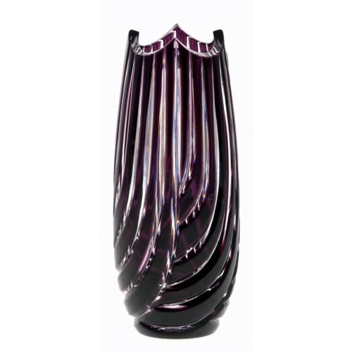 Vaso Linum, cristallo, colore viola, altezza 180 mm