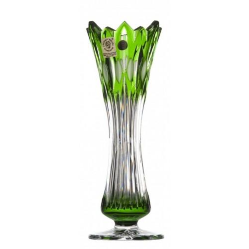 Vaso Flame I, cristallo, colore verde, altezza 205 mm