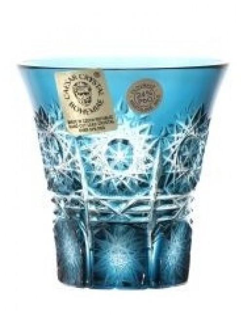 Bicchierino Paula, cristallo, colore azzurro, volume 45 ml