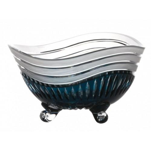 Insalatiera Dune, cristallo, colore azzurro, diametro 235 mm