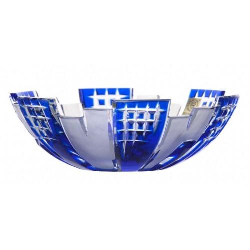 Vaso Metropolis, cristallo, colore blu, altezza 180 mm
