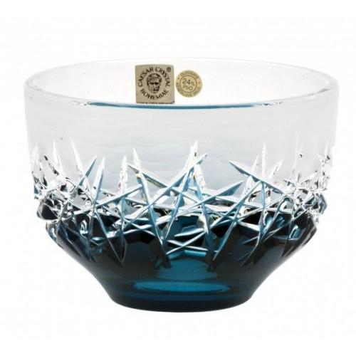 Ciotola Hoarforst, cristallo, colore azzurro, diametro 110 mm