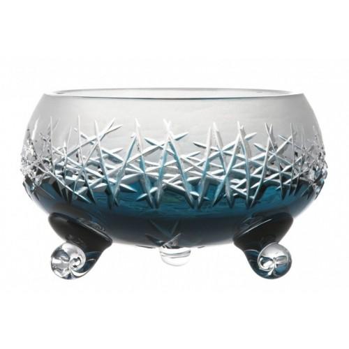 Insalatiera Hoarfrost, cristallo, colore azzurro, diametro 155 mm