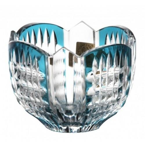 Ciotola Akiko, cristallo, colore azzurro, diametro 95 mm
