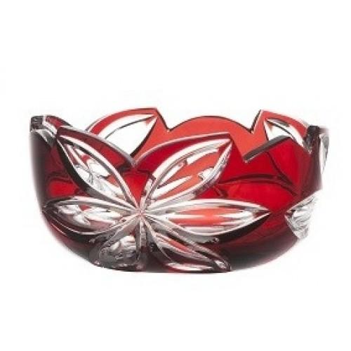 Ciotola Linda, cristallo, colore rosso, diametro 116 mm