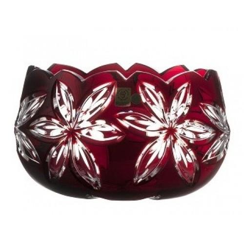 Insalatiera Linda, cristallo, colore rosso, diametro 205 mm