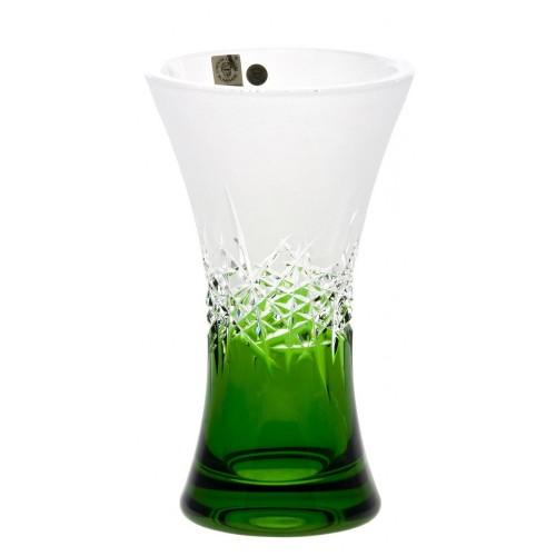 Vaso Hoarfrost, cristallo, colore verde, altezza 205 mm