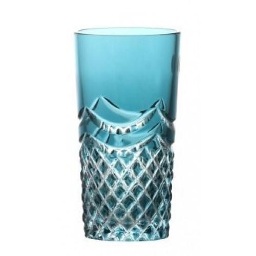 Bicchiere Quadrus, cristallo, colore azzurro, volume 100 ml