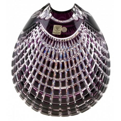 Vaso Quadrus, cristallo, colore viola, altezza 135 mm