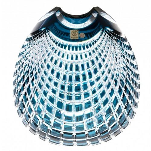 Vaso Quadrus, cristallo, colore azzurro, altezza 135 mm